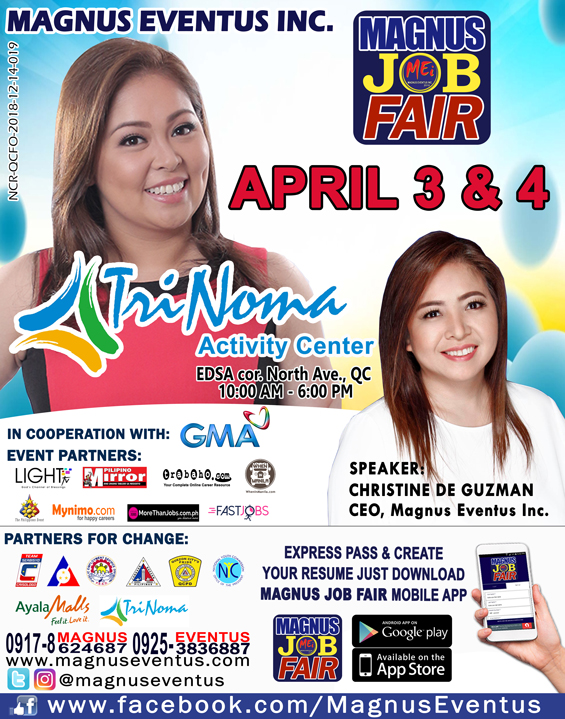Magnus Job Fair : Trinoma Activity Center – April 3 & 4, 2019 | free Classified | Free Advertising | free classified ads