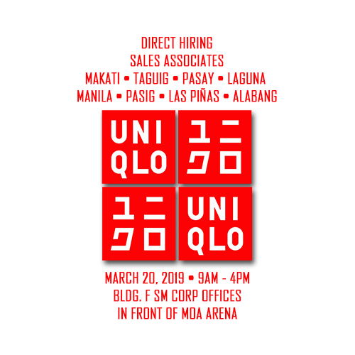 Magnus: Uniqlo Sales Associate March 20 | free Classified | Free Advertising | free classified ads