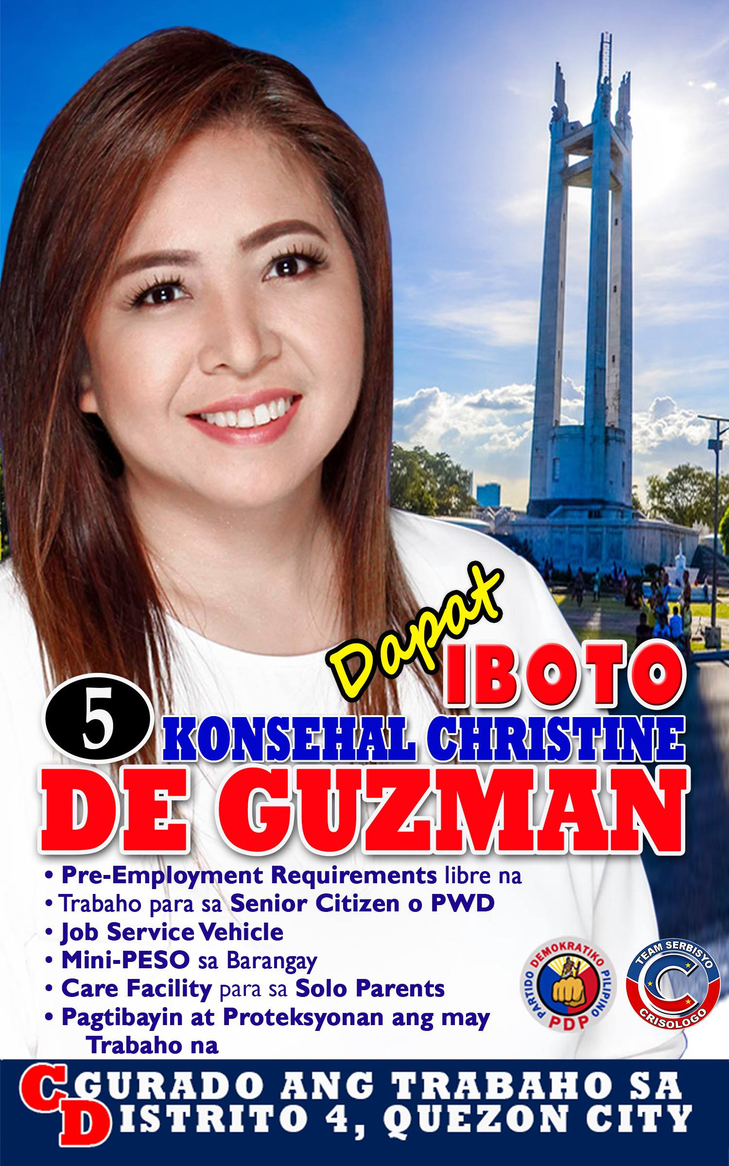 Christine De Guzman: Trabaho bilang sagot sa kahirapan, ipaglalaban! | free Classified | Free Advertising | free classified ads