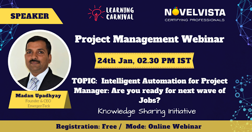 FREE Webinar on Project Management by NovelVista   free Classified   Free Advertising   free classified ads