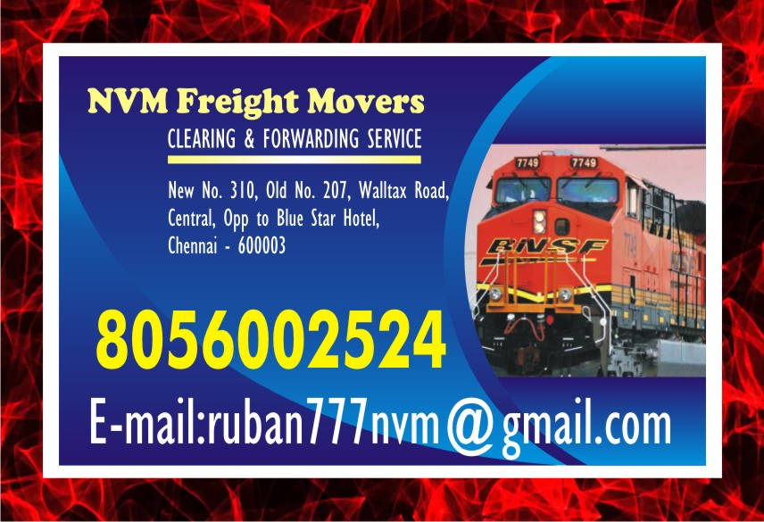 NVM | Chennai Rly. Clearing Agency | Freight Movers | Freight Movers | 891 | free Classified | Free Advertising | free classified ads