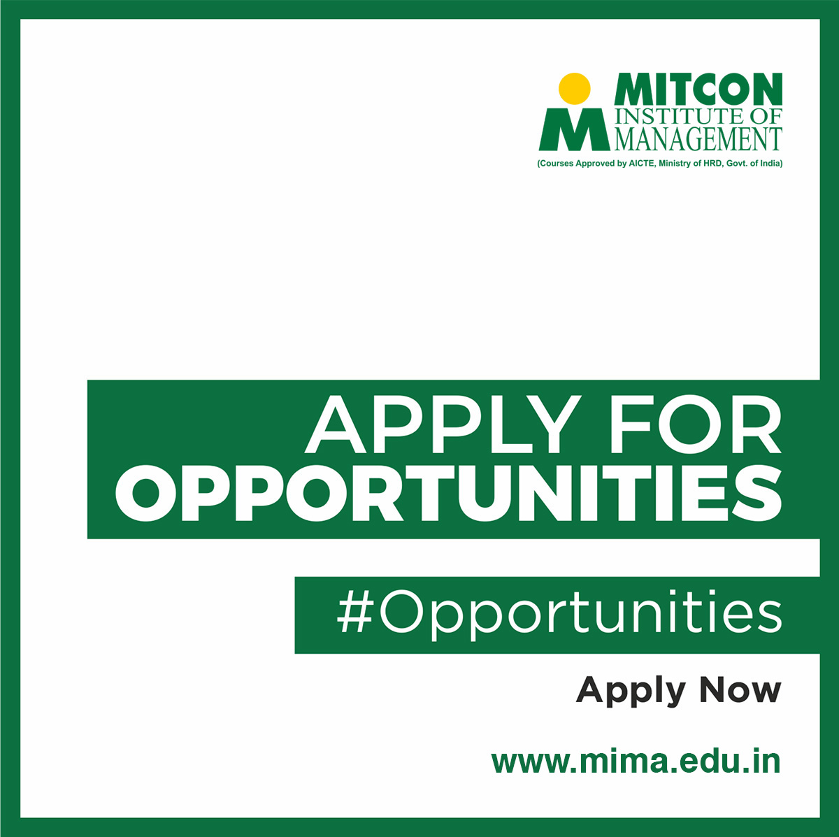 Apply For Opportunity – MITCON Institute of management in Pune | free Classified | Free Advertising | free classified ads
